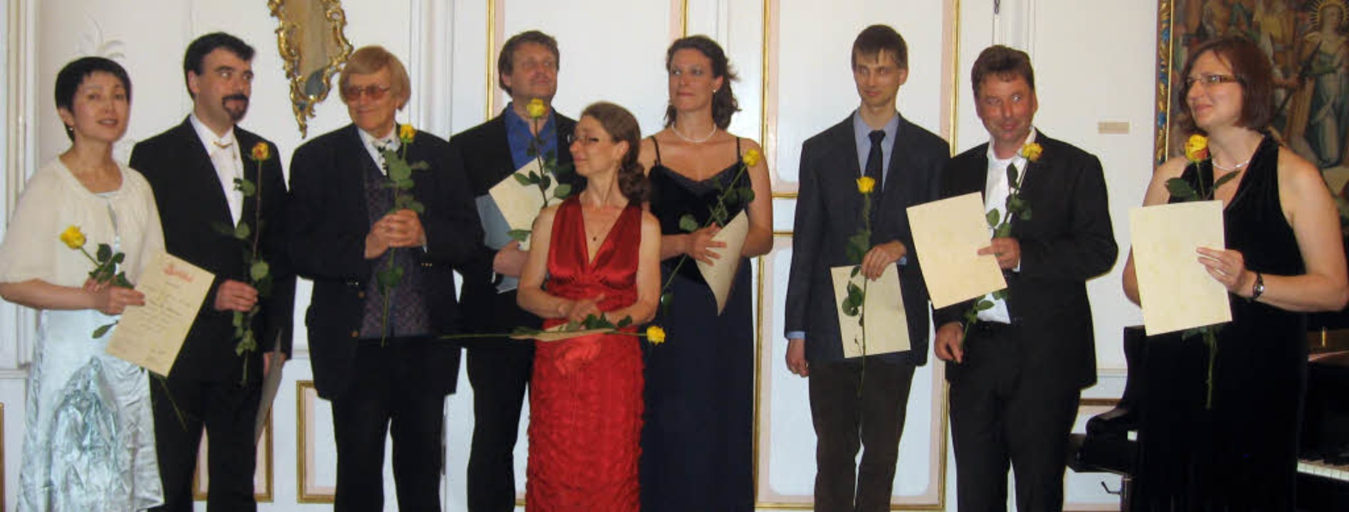 Teilnehmer des  13. Meisterkurses für ...t  Peter Feuchtwanger (3. von links).   | Foto: Hildegard Karig
