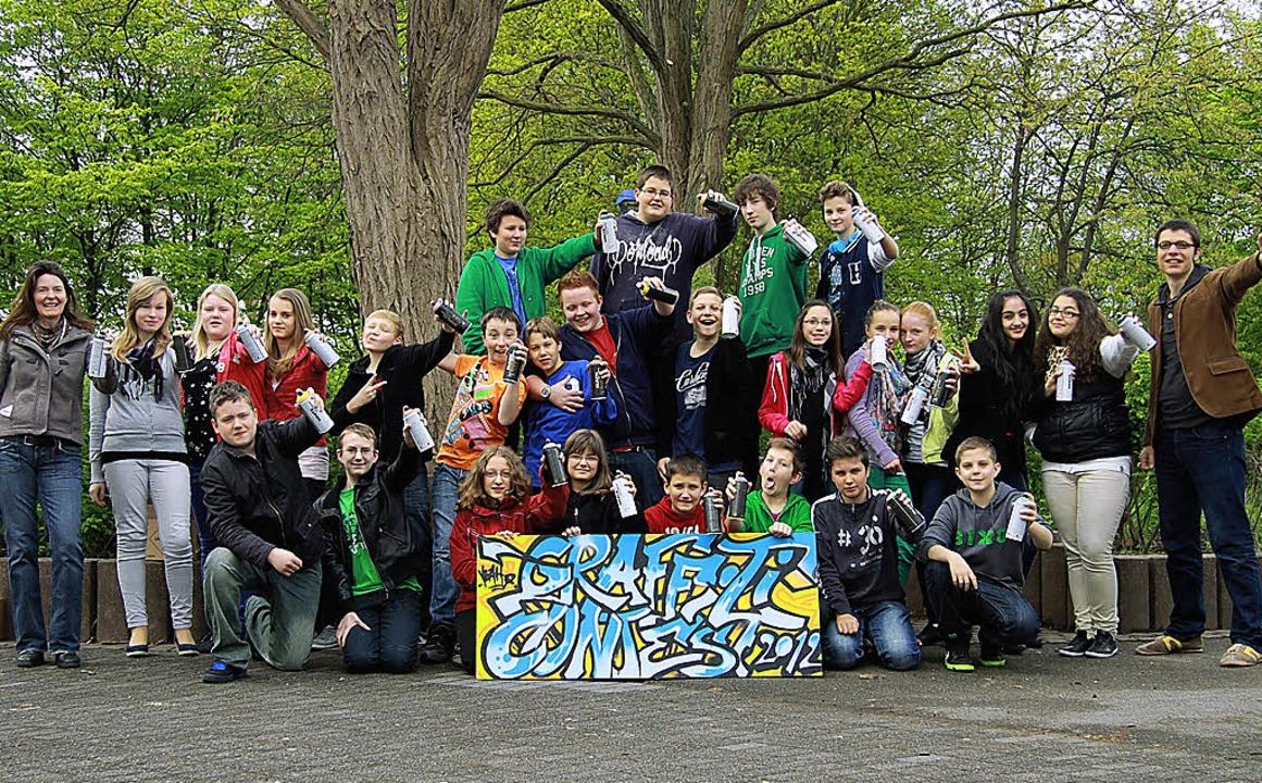 Schülerinnen und Schüler der Breisache...talten erstmals einen Gaffiti-Contest.  | Foto: privat