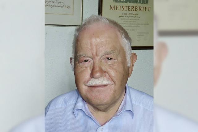 Willi Heitzmann wurde 80 Jahre