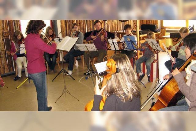 Drei Tage Musikschule zum Anfassen