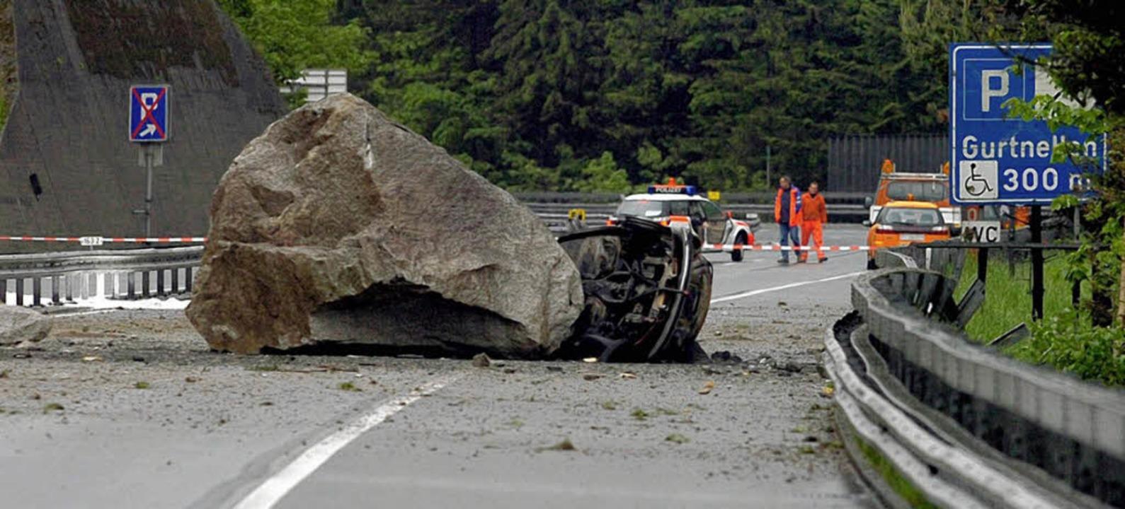 2006 wurden bei Gurtnellen zwei deutsche Urlauber erschlagen.  | Foto: dpa