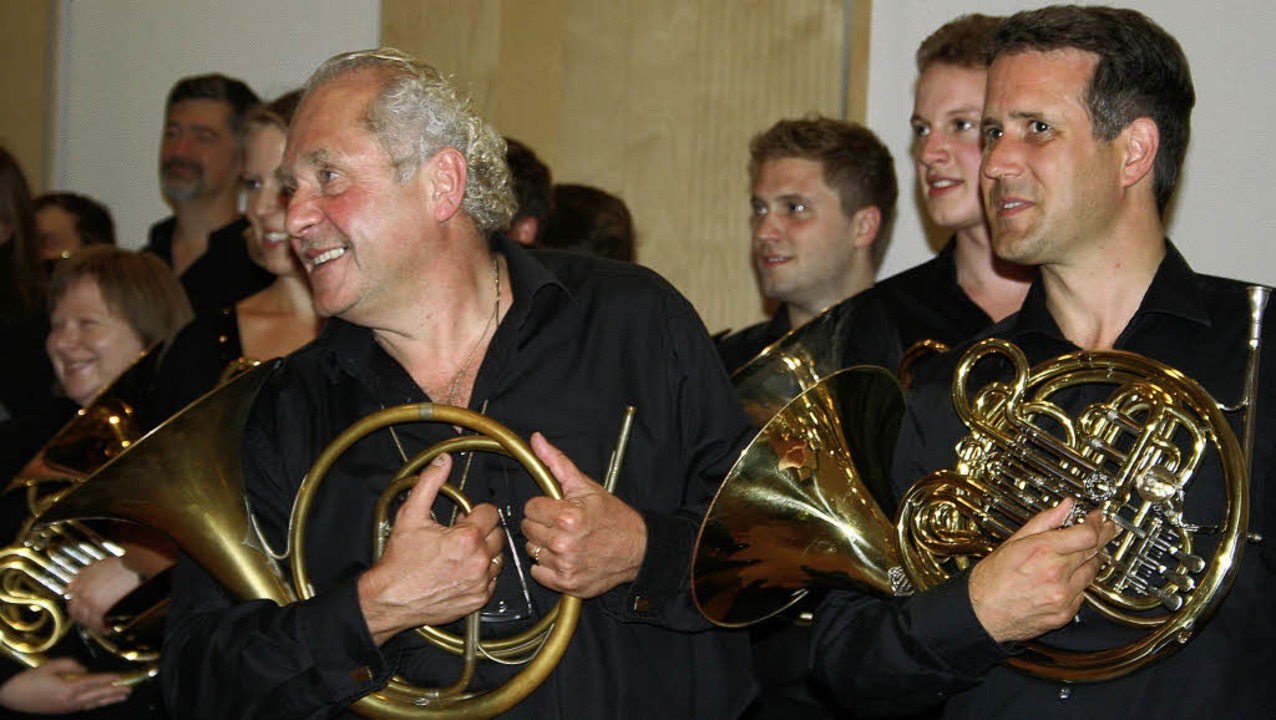 Zum Eröffnungskonzert, dem traditionel... der BDB-Musikakademie in Staufen ein.  | Foto: Martina Faller