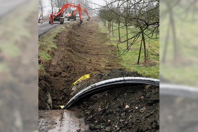 Kabel wird vergraben