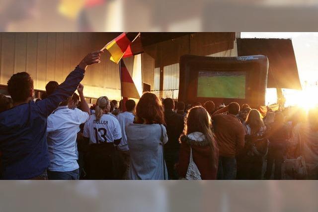 Die Fußballfans sind in Feierlaune