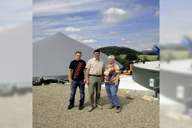 Landwirt eröffnet erste Biogasanlage im Kreis Lörrach