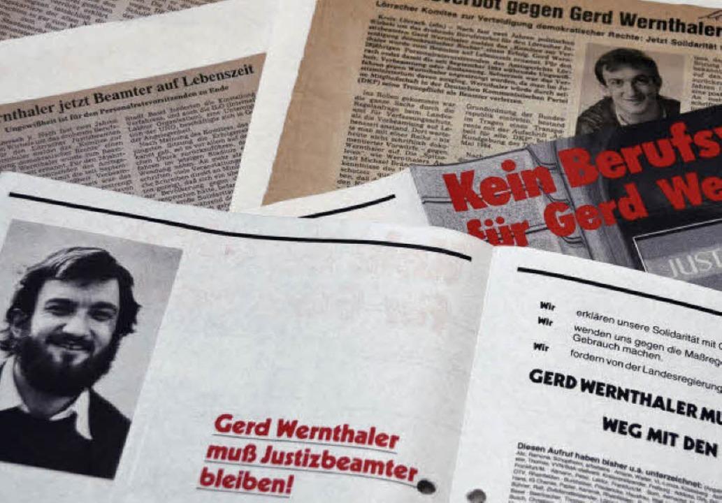 Der Radikalenerlass und der Fall Gerd ...r  Justizbeamte das Verfahren gewann.   | Foto: Sabine Ehrentreich