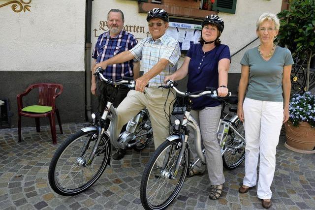 E-Bikes zum Ausleihen