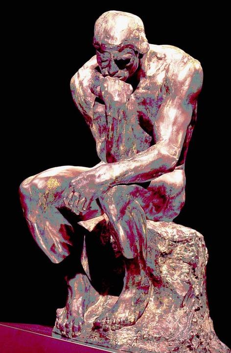"""Das  Ungedachte  könnte ihn  erleichtern: Rodins""""Denker""""      Foto: dpa"""