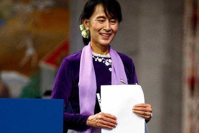Nach 21 Jahren: Suu Kyi bedankt sich für Nobelpreis