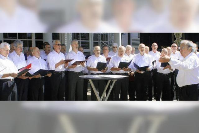 Über 40 Sänger aus mehreren Chören singen zusammen