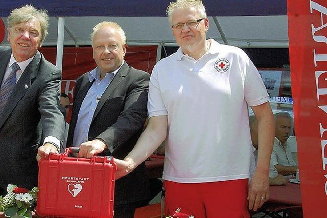 Ein Gerät, das im Notfall eine Lebensversicherung ist