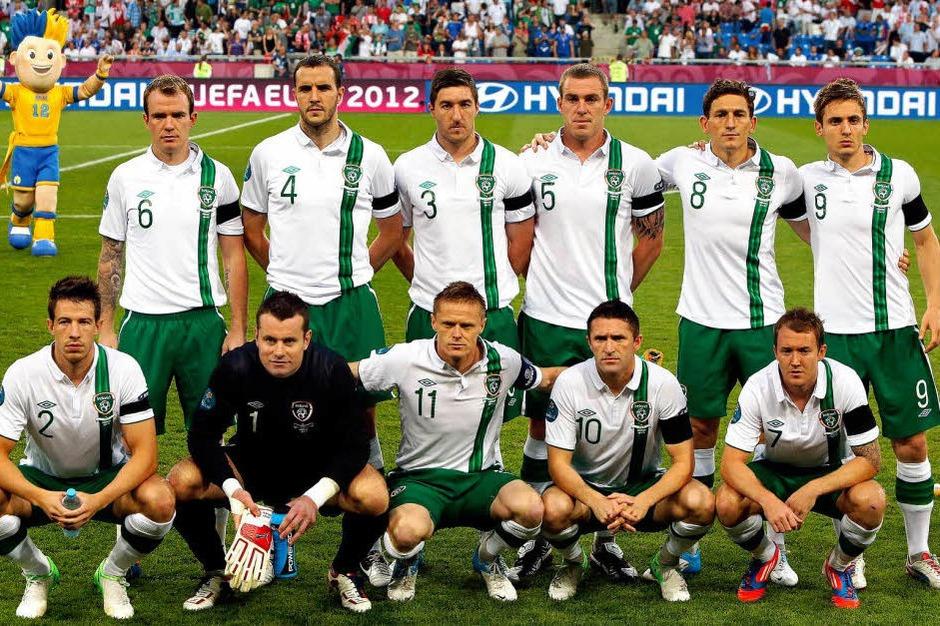 Das Team der Republik Irland vor seinem letzten EM-Auftritt gegen Italien. (Foto: dpa)
