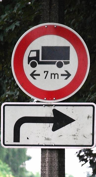 Der Schwerverkehr spielt  bei der Disk...m das BASF-Areal eine wichtige Rolle.   | Foto: staub