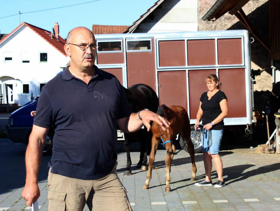 <ppp></ppp> Pferdezüchter Karl-Frieder...etwa ist ein weltweit gehandeltes Gut.  | Foto: Anja Bertsch