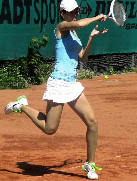 Veronika Zatekova, die Spitzenspieleri... unterlag beim FTC aber mit 3:6, 2:6.   | Foto: Günther Jassok