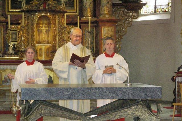Neuer Altar, alte Madonna