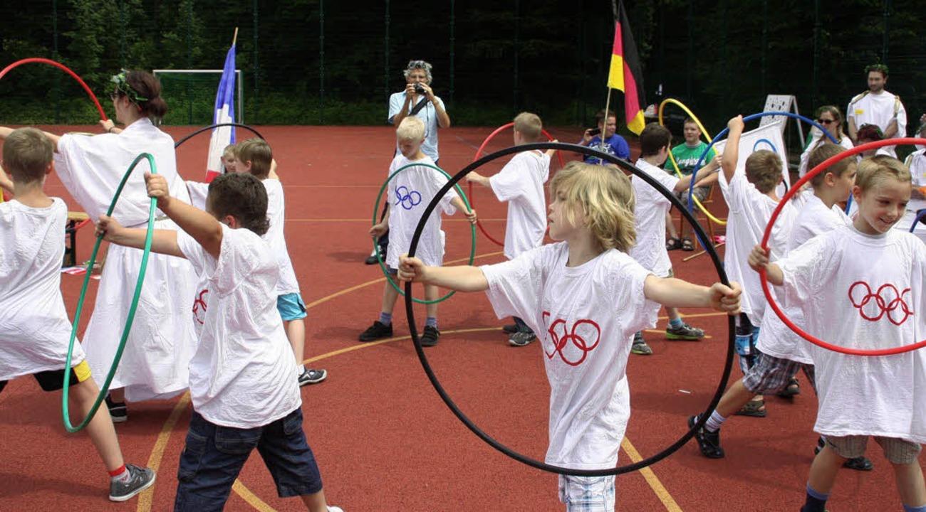 Vollkonzentriert bei der Sache: An sie...bewiesen die Olympioniken ihr Können.     Foto: Jörn kerckhoff