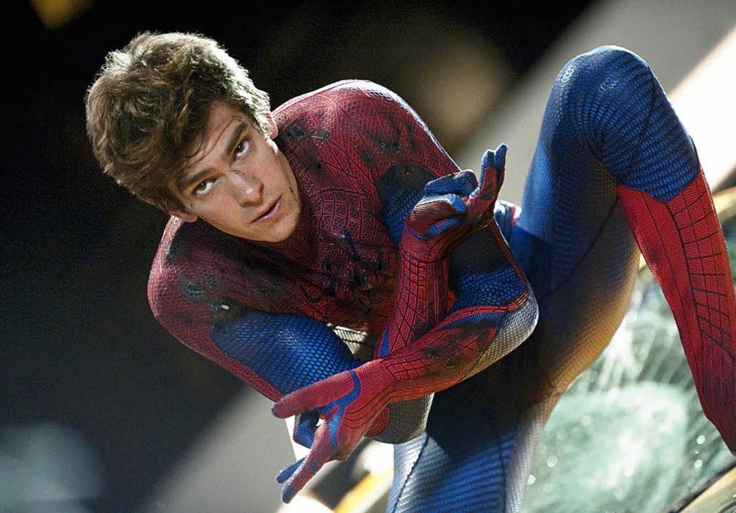 Geht als amerikanischer Teenager durch...Brite Andrew Garfield als  Spider-Man   | Foto: dapd