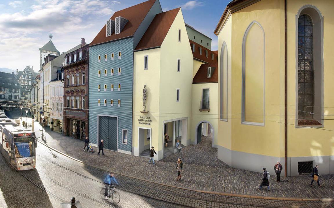 Ein Ensemble als  Einheit: das  Haus der Graphischen Sammlung   | Foto: Entwurf: Architekturbüro Mäckler, Visualisierung M.Dold GD 90