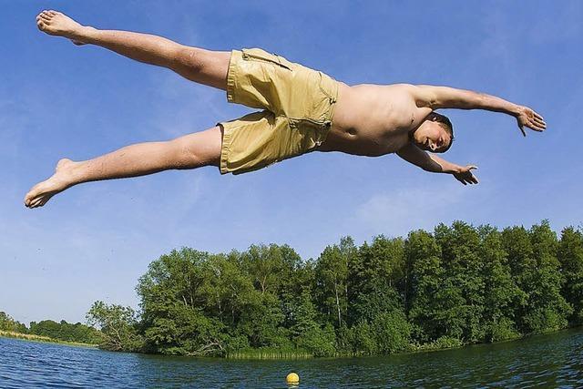Den Kopf über dem Wasser halten