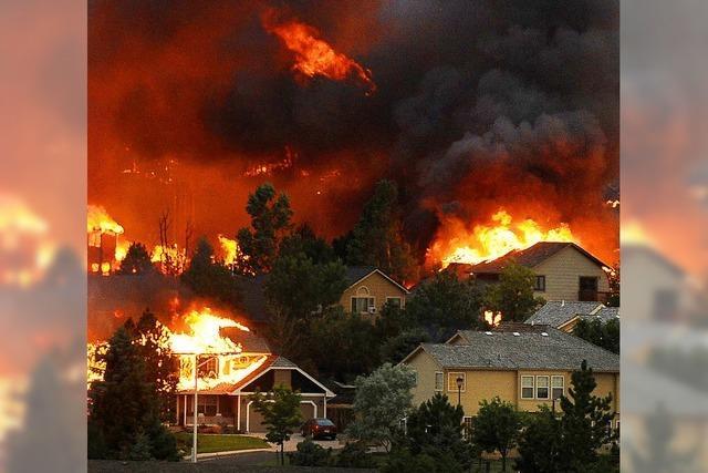 Häuser in Flammen