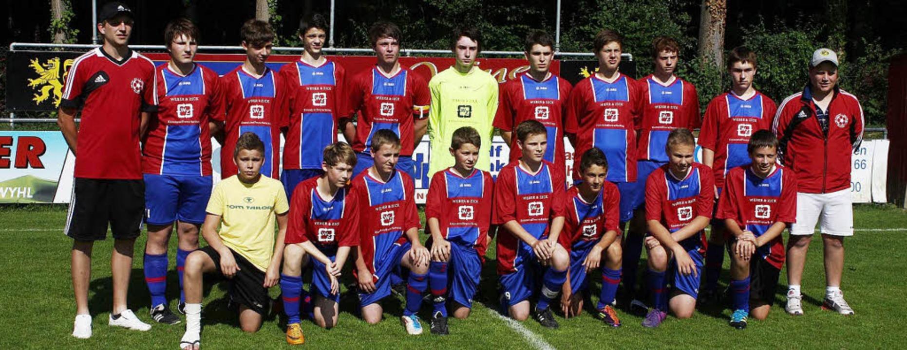 Sasbach. Die Meistermannschaft die C-J...ter in der Kreisstaffel I gworden ist.  | Foto: Roland Vitt