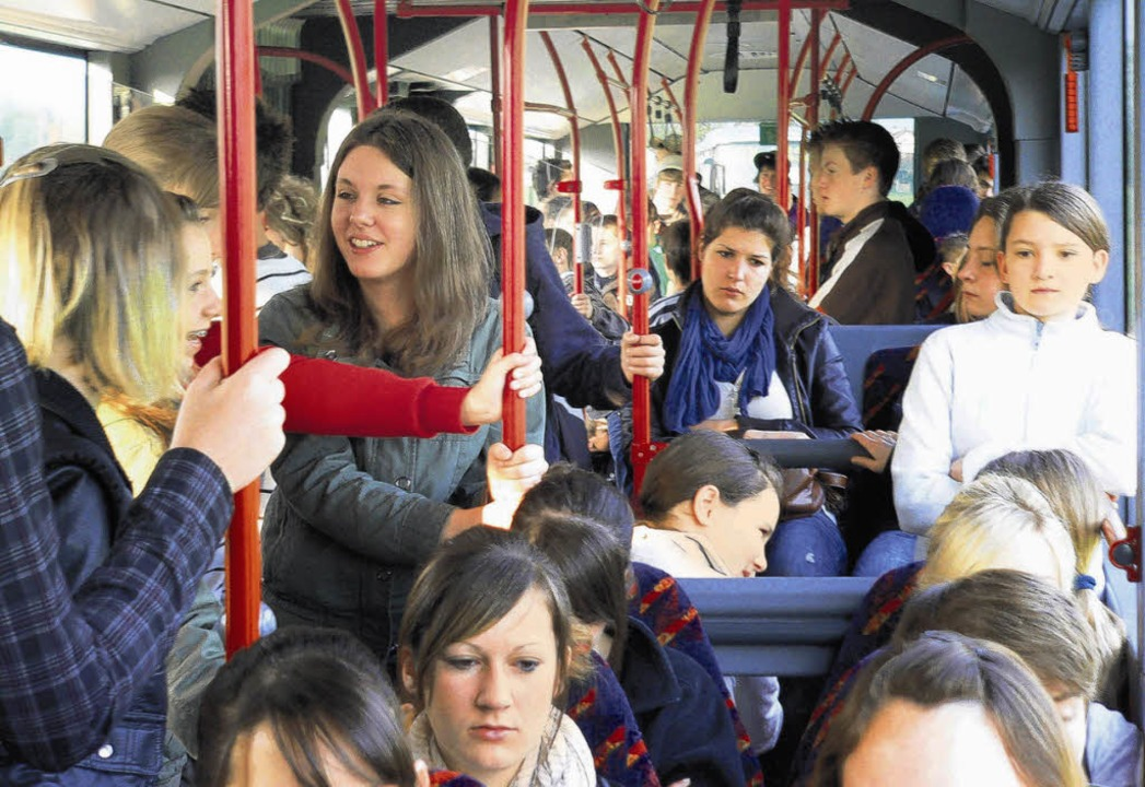Eng kann's beim Schülertransport werden.    | Foto: Herbst