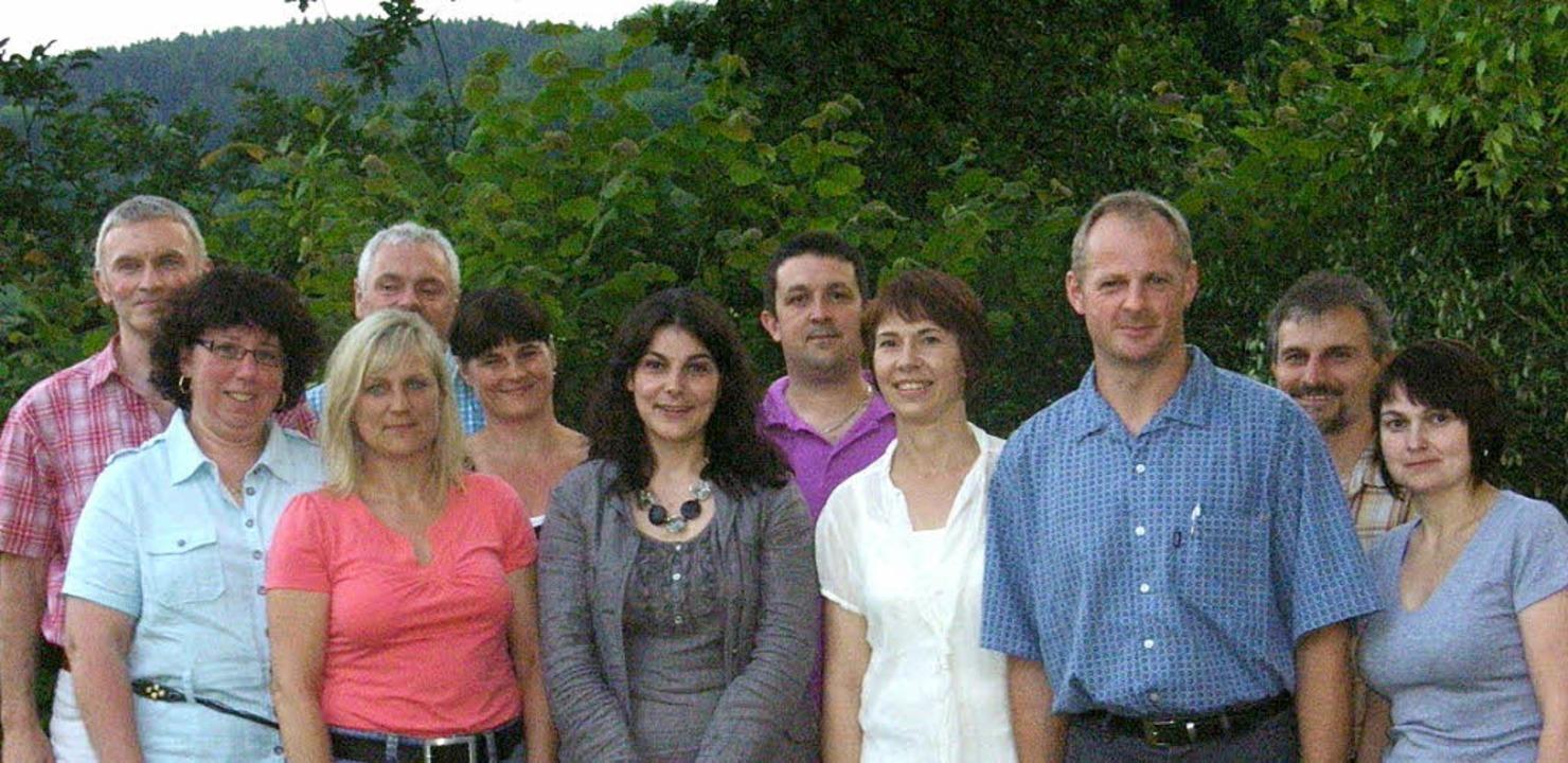 Der Vorstand des neu gegründeten Förde...d Sabine Schmidt (jeweils von links).     Foto: Förderverein