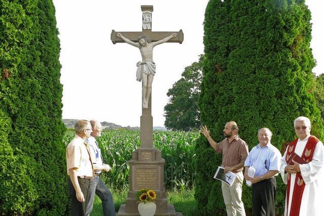 Ein Segen für das Kreuz am Killweg