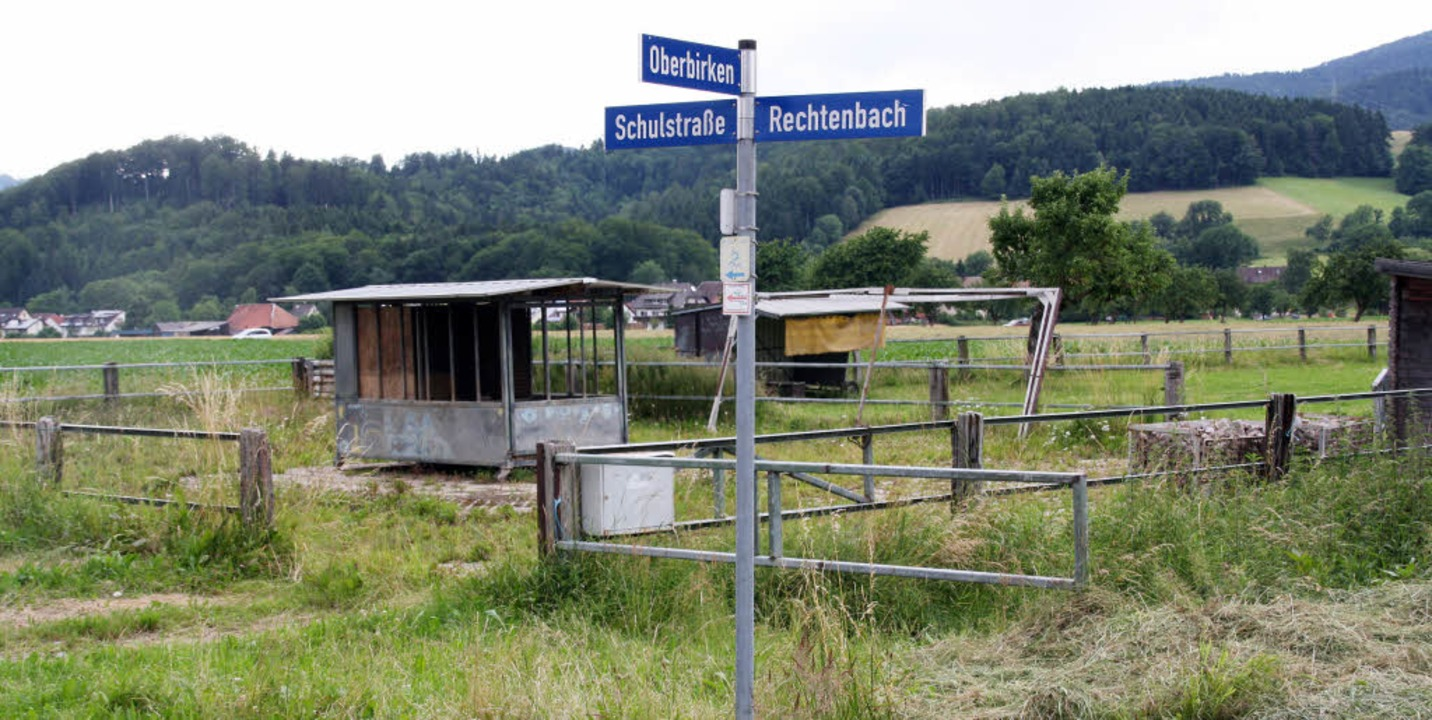 Den geplanten Wohnhäusern entlang der ...auch die Reitanlage zum Opfer fallen.   | Foto: Andreas peikert