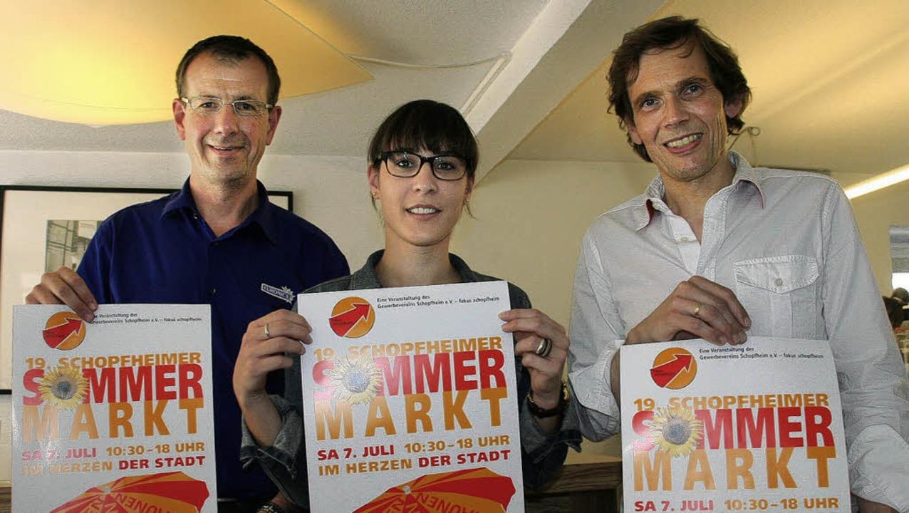 Der Schopfheimer Sommermarkt versprich... Gentili und Stefan Klever überzeugt.   | Foto: Marlies Jung-Knoblich