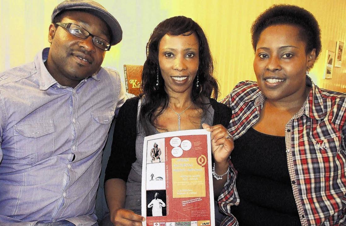 Sie organisieren den Afrika-Kulturtag ...ienne Ingabire und Marthe Ndayizigiye.  | Foto: FREUDIG