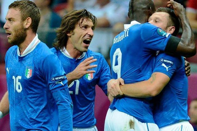 Italien schlägt Deutschland 2:1