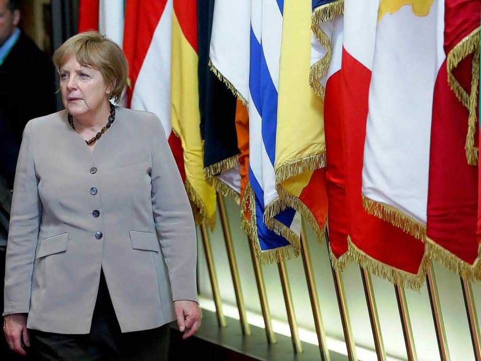 Die deutsche Kanzlerin Angela Merkel beim EU-Gipfel.    Foto: dpa