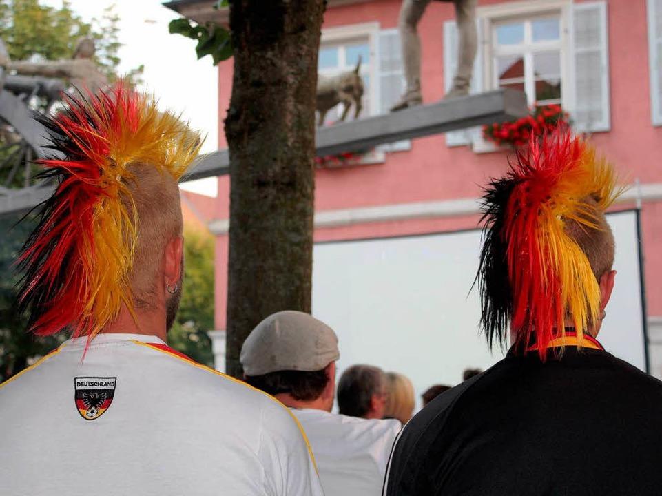 Deutsche Fans beim Public Viewing  | Foto: Anja Bertsch