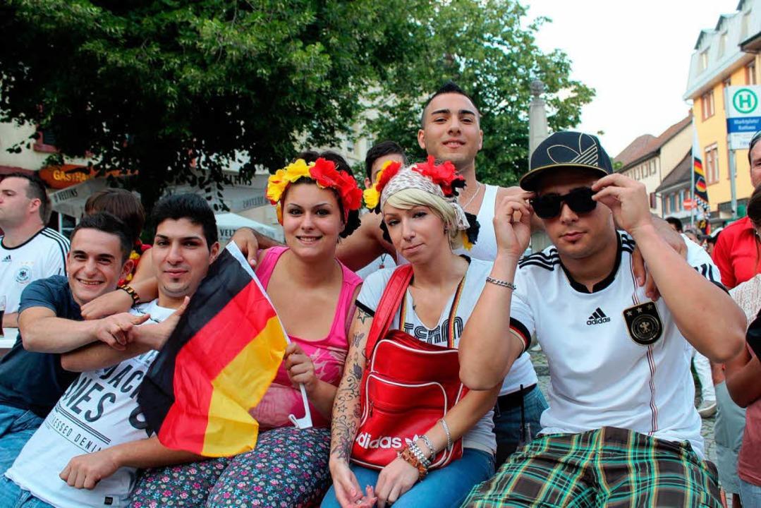 Die Enttäuschung über die Niederlage g...lien war den deutschen Fans anzusehen.  | Foto: Anja Bertsch