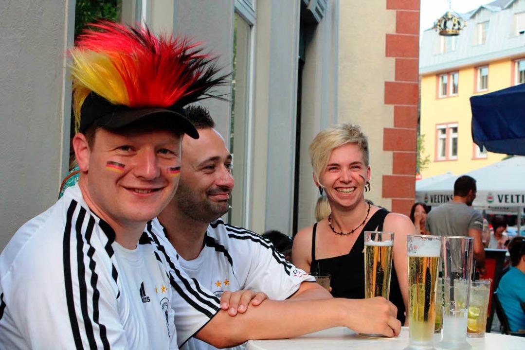 Zum Auftakt des Spiels herrschte noch gute Laune  | Foto: Anja Bertsch