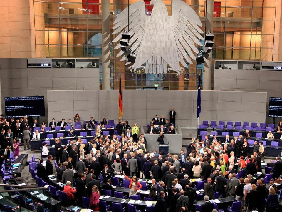 Abstimmung im Bundestag.    Foto: dpa