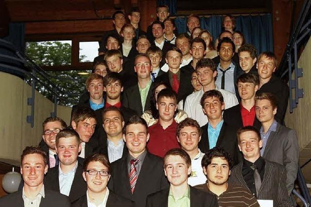 Insgesamt 45 Absolventen
