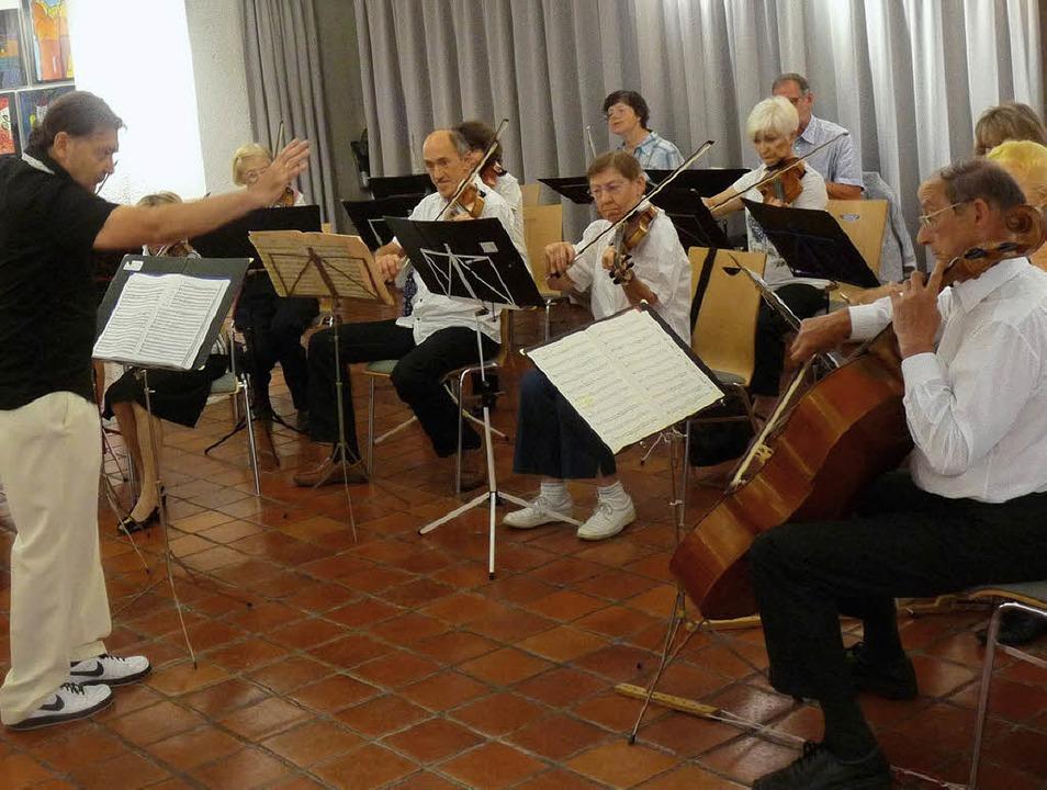 Das Kaltenbach-Orchester bei seinem Konzert im Museum am Burghof.  | Foto: Claudia Gabler