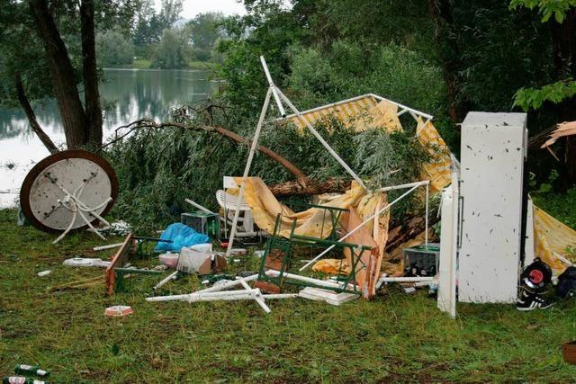 Unwetter: Fest am Matschelsee gerät beinahe zur Katastrophe