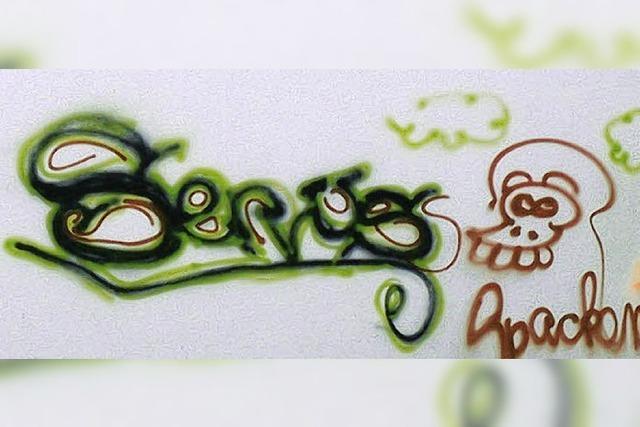 Graffiti an der Schule