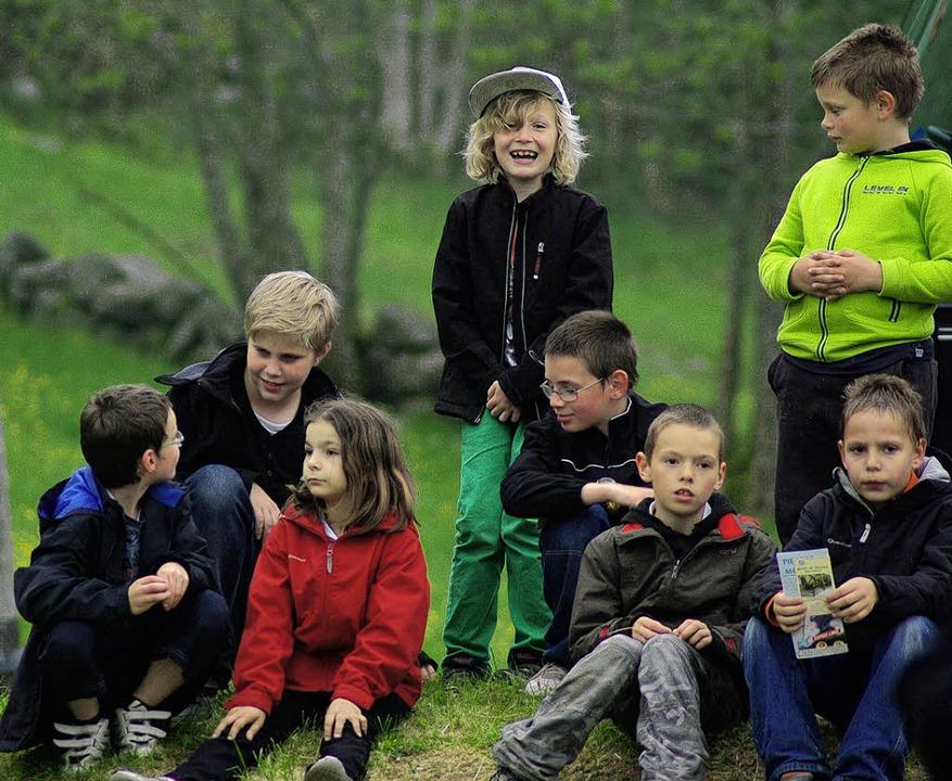Die Grundschüler aus Höllstein hatten ...ß bei den Briefpartnern in Cornimont.     Foto: privat