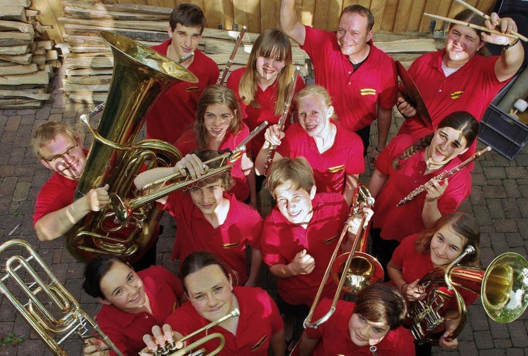 Das Serenadenkonzert in Windenreute er...Jugendkapelle  mit der Zirkusfantasie.  | Foto: Privat