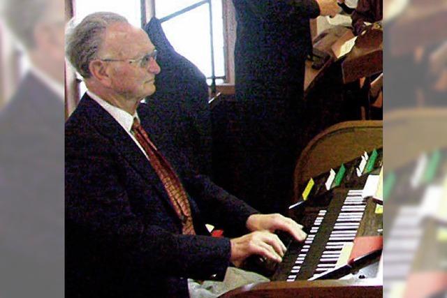 Seit 20 Jahren an der Orgel