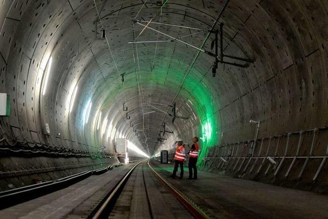 Katzenbergtunnel: Am 9. Dezember rollt der erste Zug