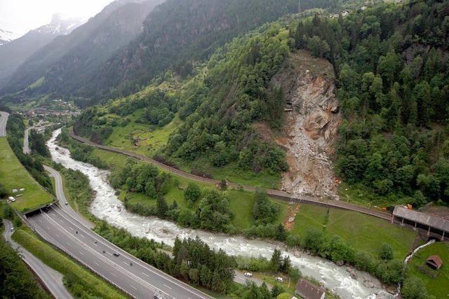 Millionenschaden nach Gotthard-Felssturz