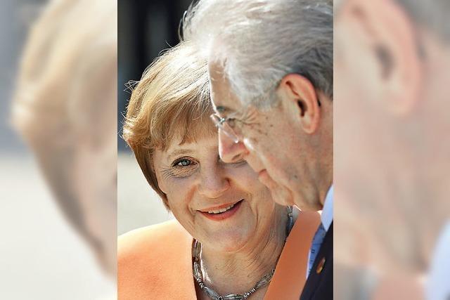 Merkel und Monti in Harmonie