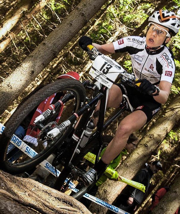 Adelheid Morath ist gut in Form. Mit S...er  andere Mal am Berg davongefahren.   | Foto: Küstenbrück