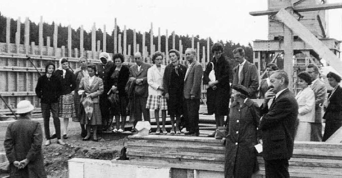 Grundsteinlegung 1961  | Foto: PRIVAT